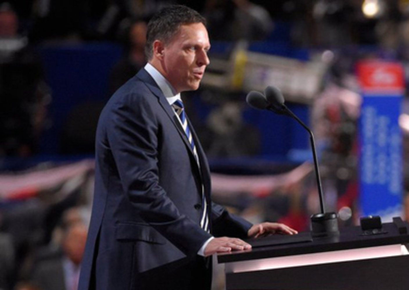Peter Thiel speaks on the fourth day of the 2016 RNC - Wikimedia Commons