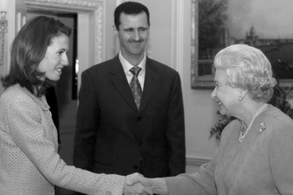 In December 2002, Queen Elizabeth II received Bashar al-Assad and his London-born wife, Asma.