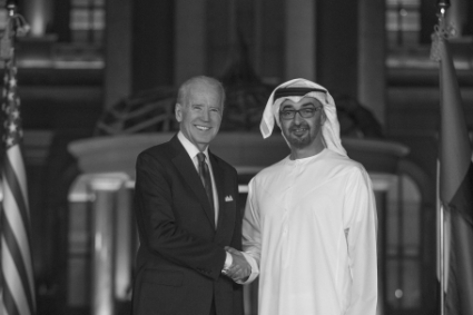 Joe Biden and Abu Dhabi's Crown Prince Sheikh Mohammed Bin Zayed Al-Nahyan, March 2016.