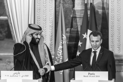 French President Emmanuel Macron and Prince Mohamed bin Salman in 2018.