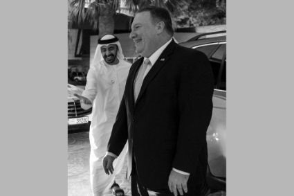 Mohamed bin Zayed al-Nahyan received Secretary of State Mike Pompeo in January.