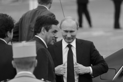 François Fillon and Russian President Vladimir Putin in 2011.