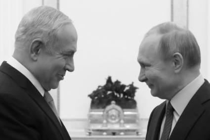 Vladimir Putin and Benjamin Netanyahu in the Kremlin in January 2020.