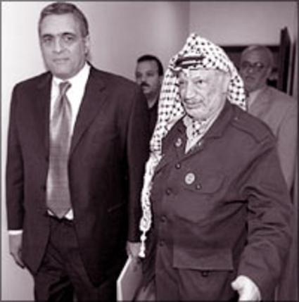 Palestinian Authority President Yasser Arafat and CIA Director George Tenet (DR)