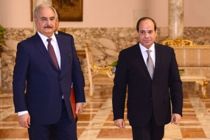 Khalifa Haftar and Abdel Fattah el-Sisi in December 2019.
