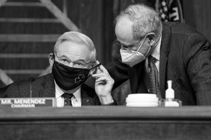 Bob Menendez and Jim Risch, two senators on the Senate Foreign Relations Committee.