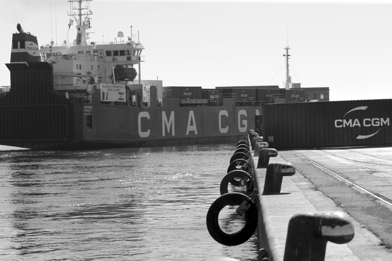 A CMA CGM vessel leaving Marseille on August 25, 2020, to rescue Beirut.