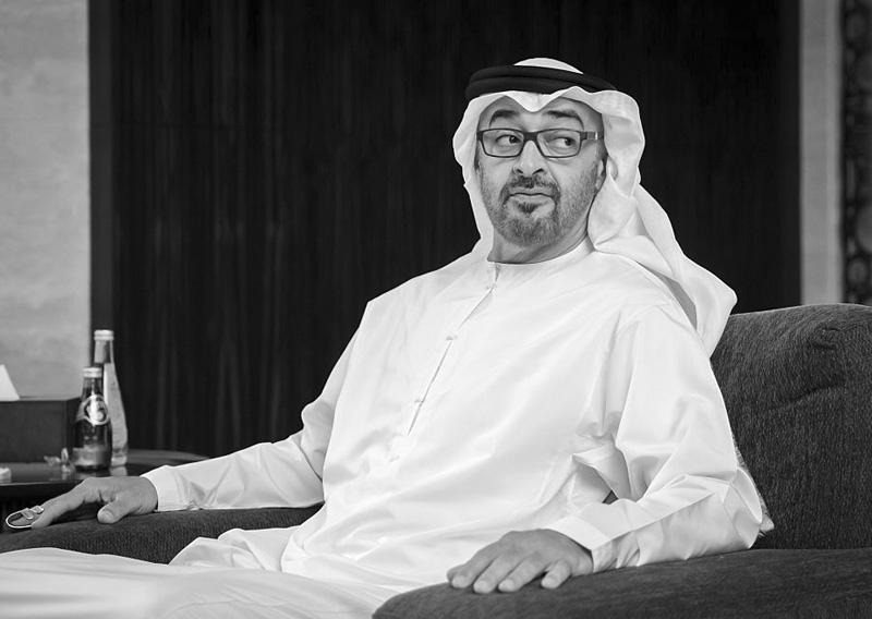 Abu Dhabi crown prince Mohamed bin Zayed Al Nahyan