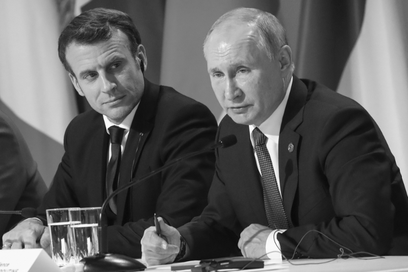 French President Emmanuel Macron and his Russian counterpart Vladimir Putin.
