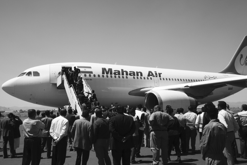 The company Mahan Air is suspected by US intelligence to be linked to the al-Quds Force.