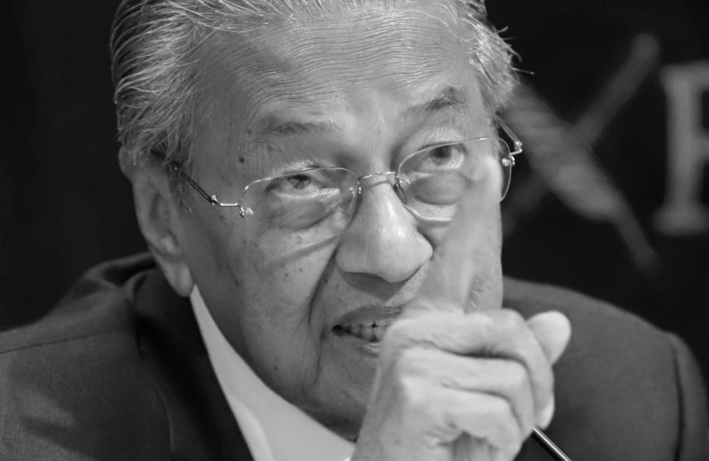 Malaysia's Prime Minister Mahathir Mohamad.