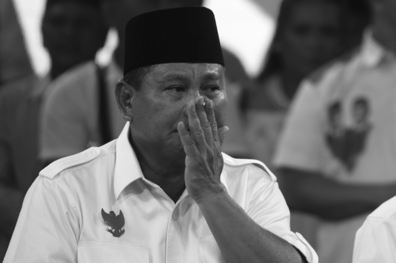 Prabowo Subianto in Jakarta during the 2019 presidential campaign.