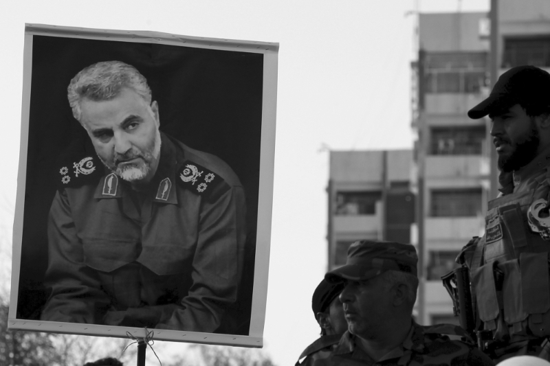 Portrait of the Quds Force Commander, Ghassem Soleimani.