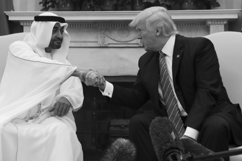 Mohamed bin Zayed al-Nahyan and Donald Trump strengthened their military alliance in May 2017.